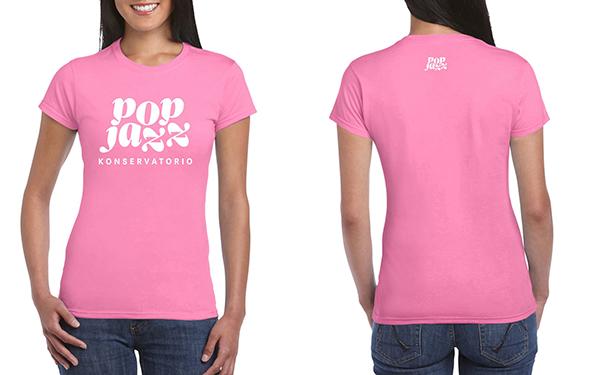 T-paita, pinkki, nainen