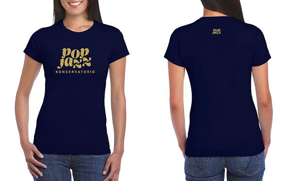 T-paita, sininen, nainen