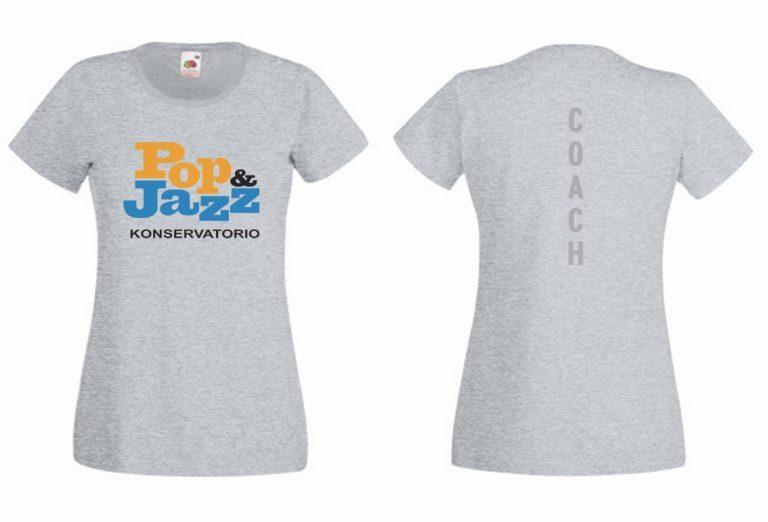T-paidan malli, harmaa