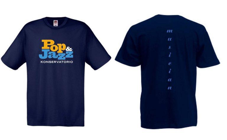 T-paidan malli, sininen