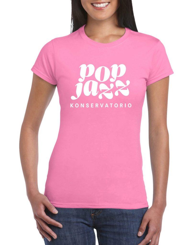 Pinkki naisten paita edestä