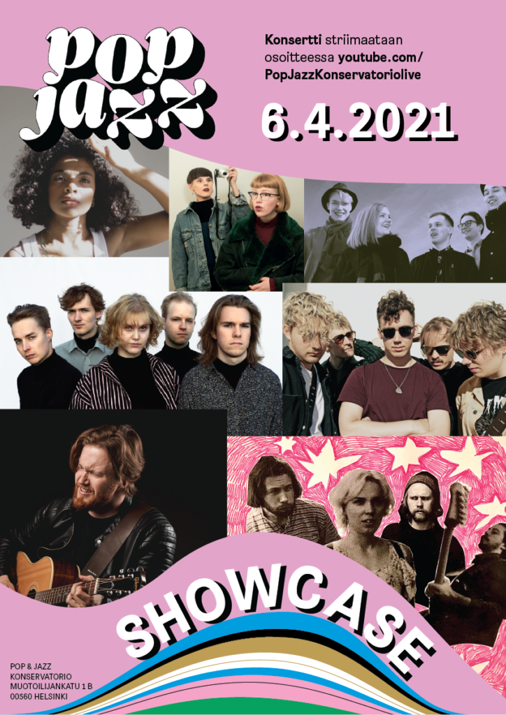 Pop & Jazz Fest 2021 Showcase juliste