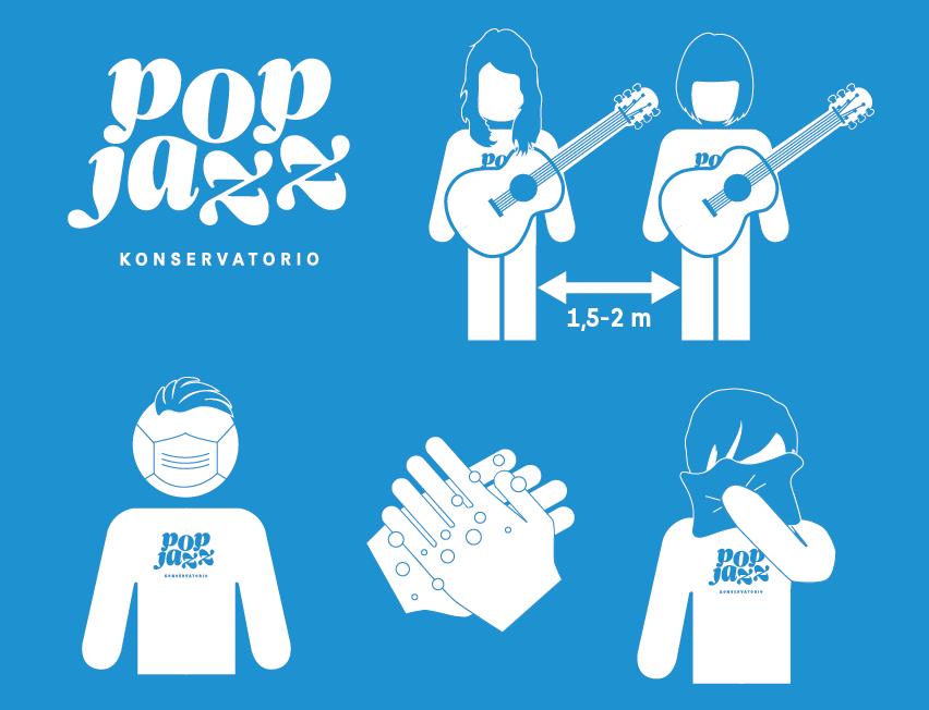 Pop & Jazz Konservatorion koronaohjeistus syksy 2020